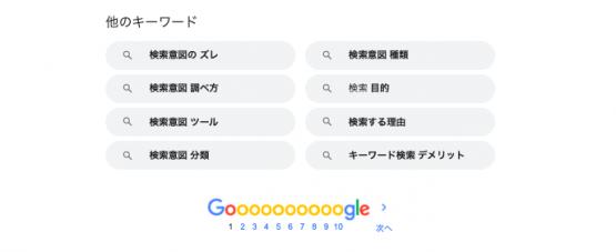 「検索意図」の関連キーワード
