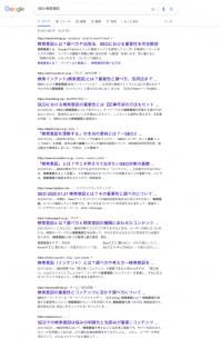 検索結果の上位10ページ